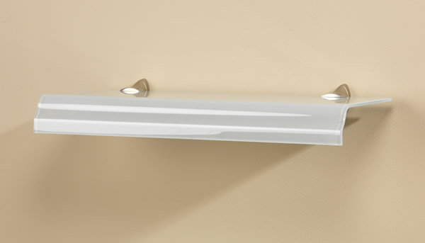 Cascade Curved Edge Glass Shelf