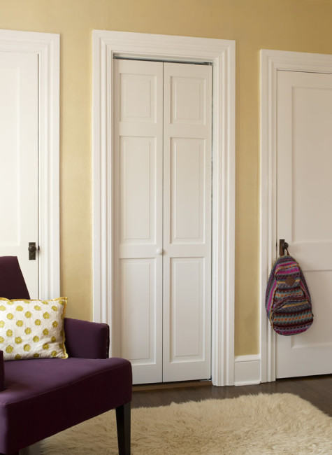 Classic Raised Panel Bifold Door in Prefinished White or Unfinished Pine