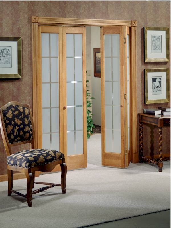 Colonial Frosted Glass Bifold Door In Unfinished Or
