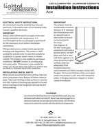 Ace LED Mirror Installation Instructions
