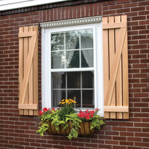 Board and Batten Z Shutter in Premium White Pine or Cedar