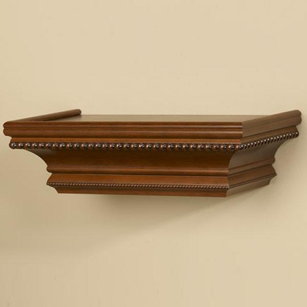 Bijou Ledge Wood Shelving with Baroque Beading