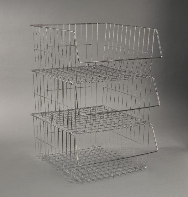 More Inside Stackable Wire Baskets