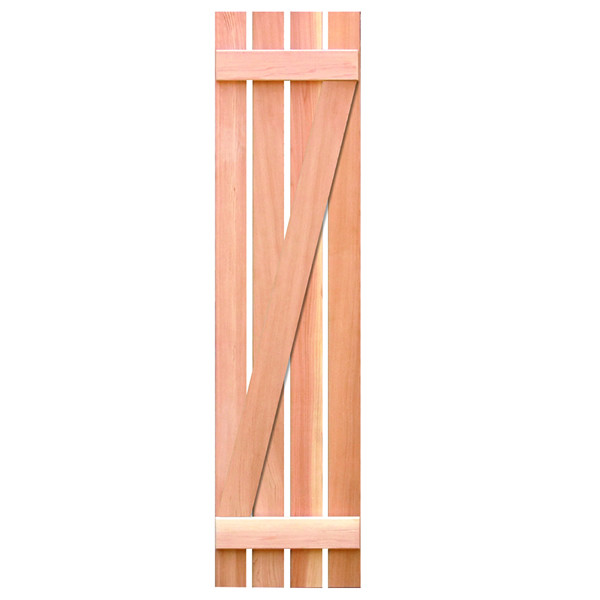 Board And Batten Shutters With Z Bar Exterior Wooden