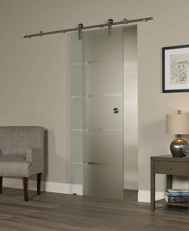 Contour Glass Barn Door
