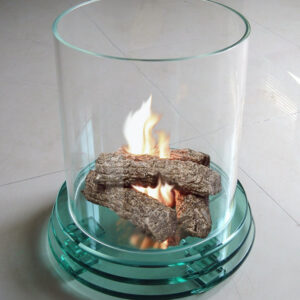 Firenze Decorative Glass Fireplace with Round Base