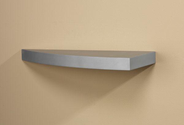 Silver Grande Wood Curved Shelf