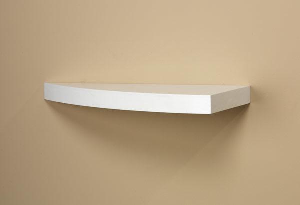 White Grande Wood Curved Shelf