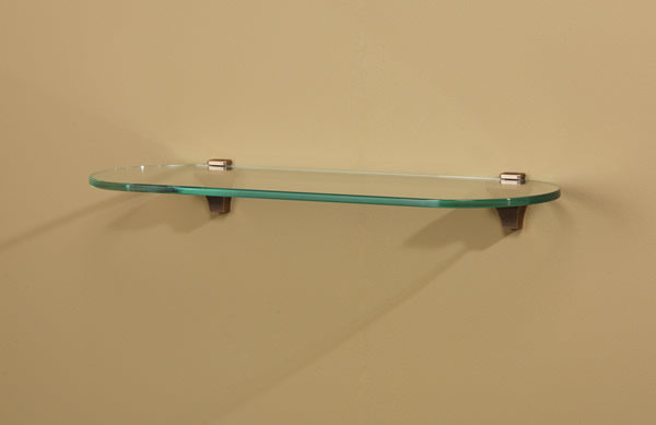 Infinity Contemporary Glass Shelf with Rounded Edges