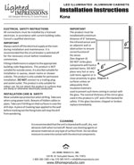 Kona LED Mirror Installation Instructions