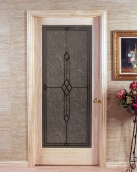 Geometric Slab Passage Door with Frosted Glass