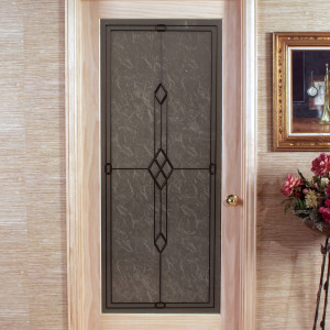 Geometric Frosted Passage Door With One Piece Tempered Glass