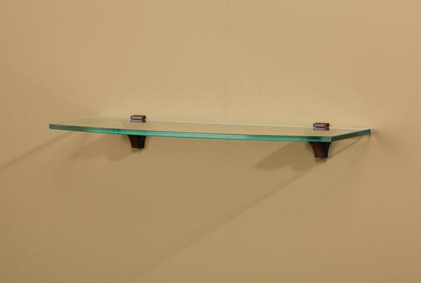 Luna Modern Glass Shelf in Opaque or Clear Glass