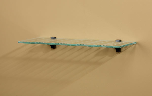Optique Glass Wall Shelf with Grid Lines