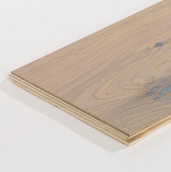 Oak Rustic Smoked White Wood Flooring Detail