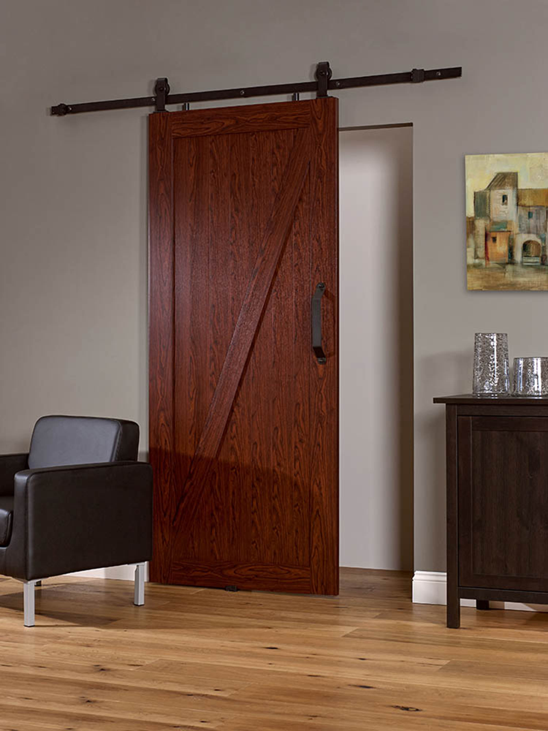 "PVC Barn Door Z 36"" - Cherry"