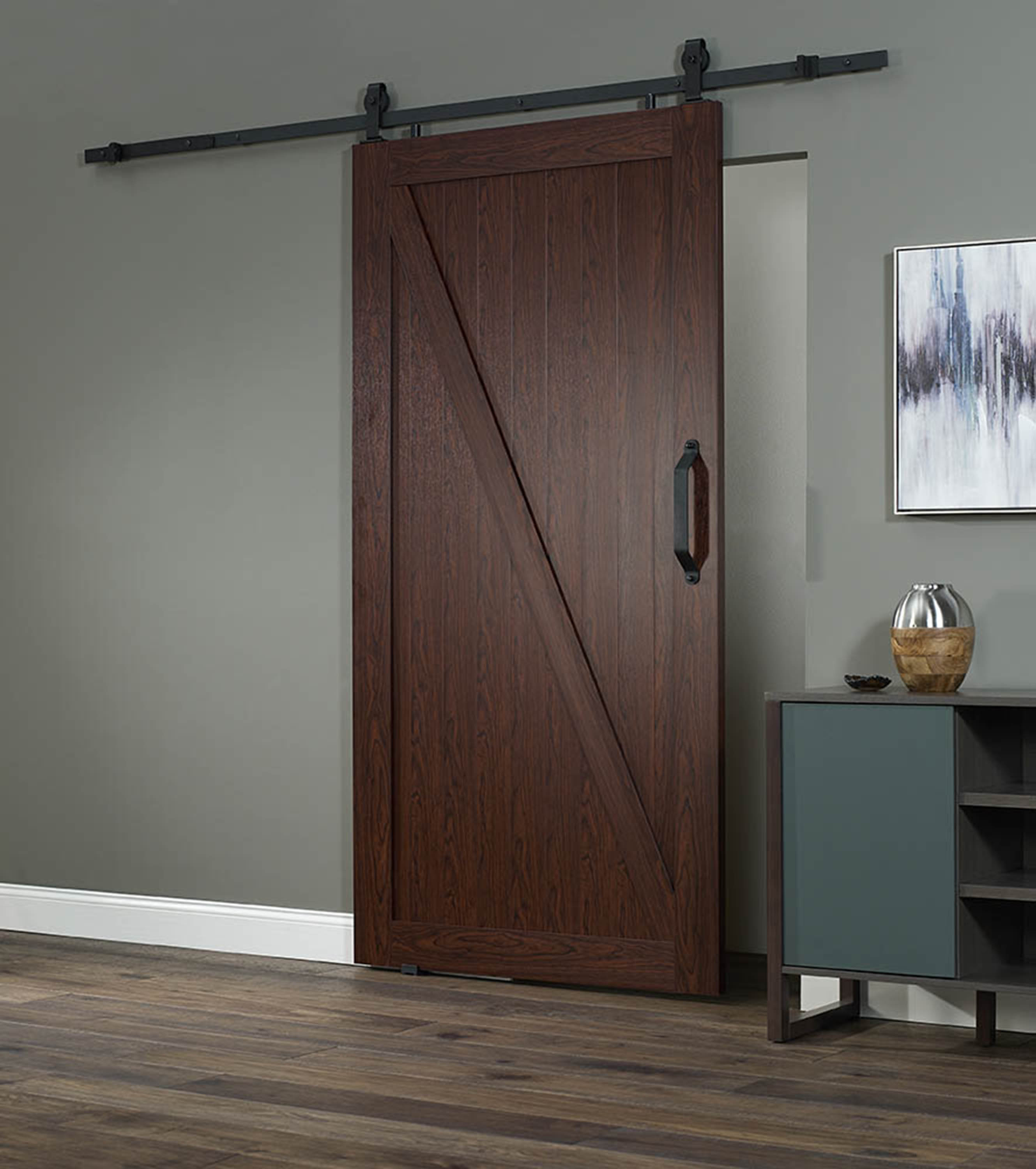 "PVC Barn Door Z 42"" - Cherry"
