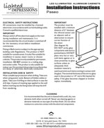 Paseo LED Mirror Installation Instructions