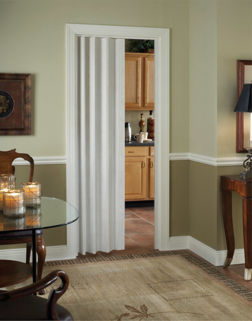 Royale Interior Folding Door With Snap Lock Closure And Quiet Glides