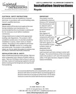 Royale LED Mirror Installation Instructions