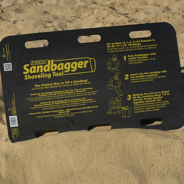 Sandbagger Kwickan™ Portable Shoveling Tool