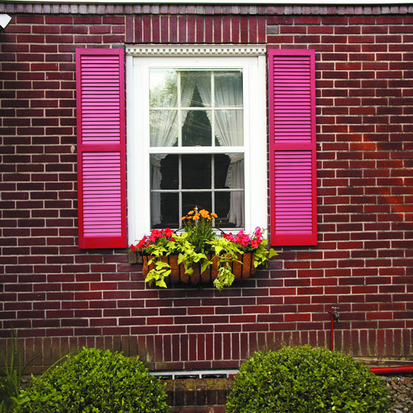 Custom Exterior Shutters In Wood Louvered Design