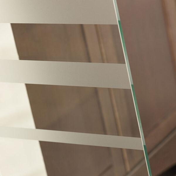 Silhouette Glass Barn Door - Detail