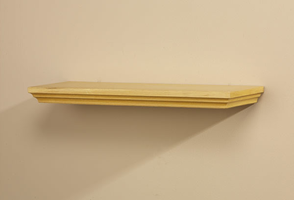 Villages Straight Wood Wall Shelf