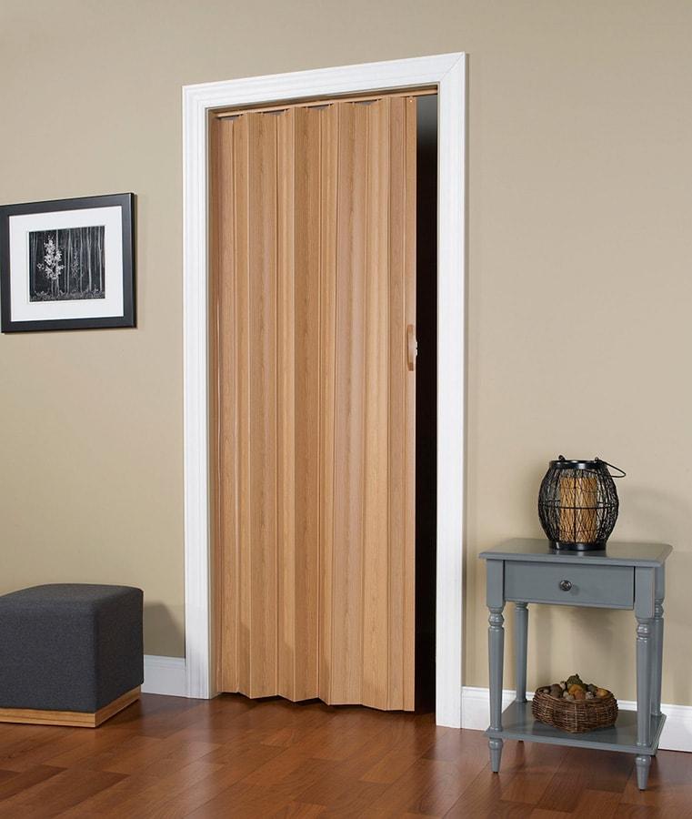 Via Accordian Folding Door With Flexible Solid Vinyl Hinges
