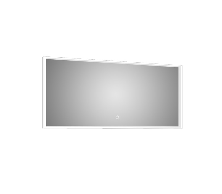 Azure LED Mirror Silhouette