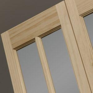 Classic French Bifold Door Opaque Glass Design