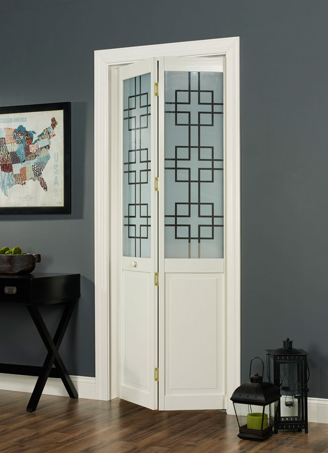 Geometric Glass Bifold Door