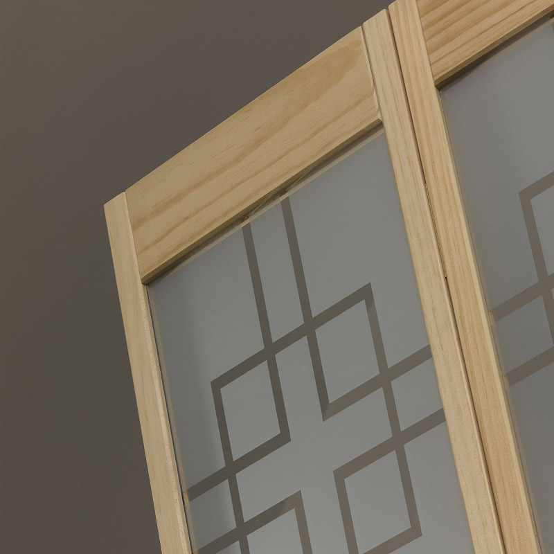 Geometric Glass Bifold Door - Unfinished Detail