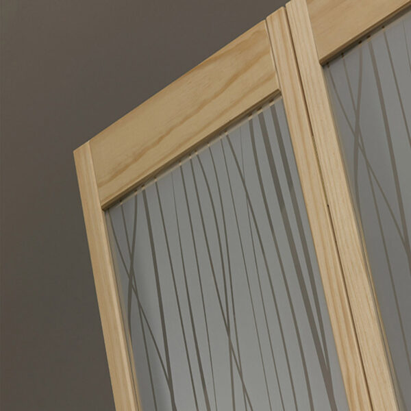 Grass Wood and Glass Bifold Door - Unfinished Detail