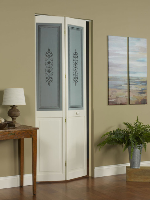 Lace Glass Bifold Door
