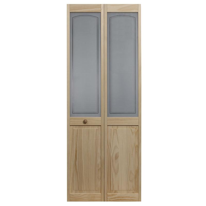 Mezzo Glass Bifold Door With Raised Panel Bottom