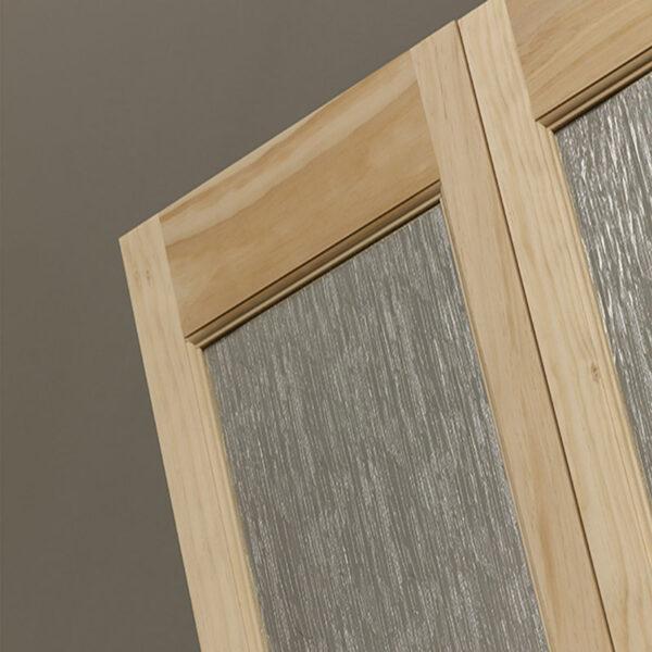 Rain Full Glass Bifold Door - Unfinished Detail