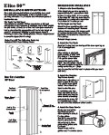 "Elite Folding Door 80"" Installation Instructions"