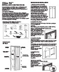 "Elite Folding Door 96"" Installation Instructions"