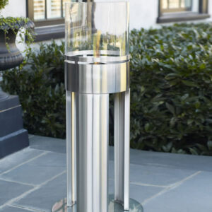 Free Standing Stainless Steel Fireplace