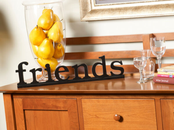 Friends Wall Decor in Espresso Wood Finish