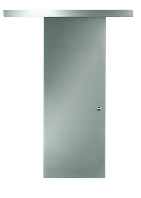 Opaque Glass Barn Door Details 96""