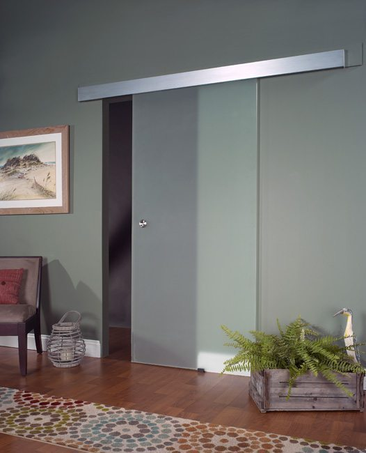 Opaque Glass Barn Door 80""