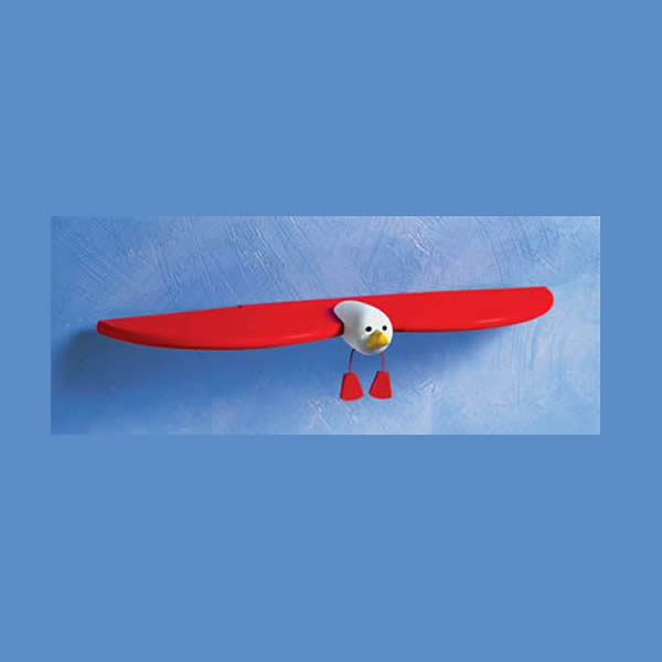 Kinder Touch Seagull with Red Wing Shelf