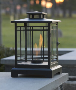Black Tabletop Metal Lantern