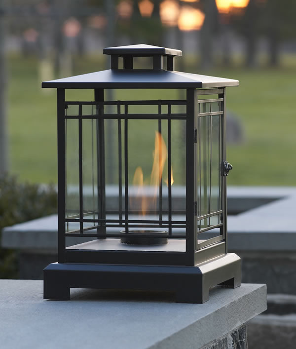 Black Tabletop Metal Lantern