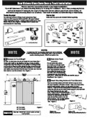 New Visions Glass Door Installation Instructions