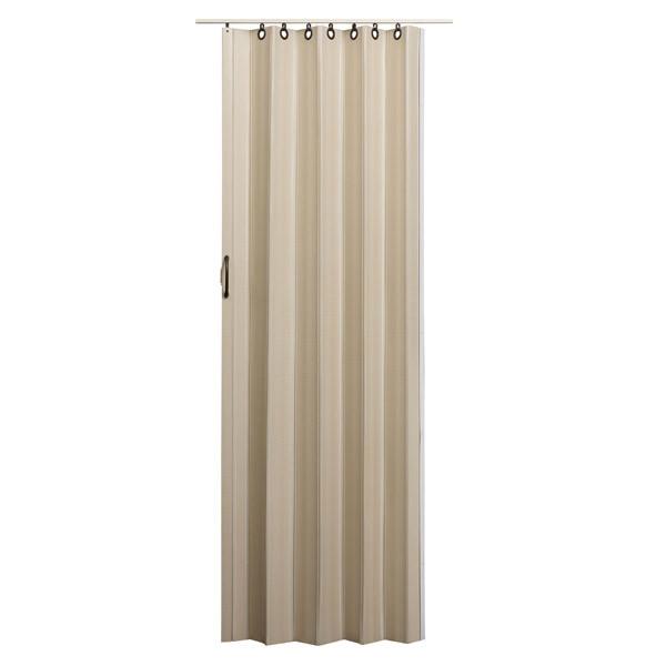 Nuevo Folding Door - Linen with Brown Hardware