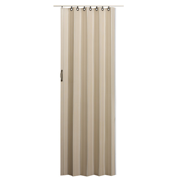 Nuevo Folding Door - Linen with Brown Hardware