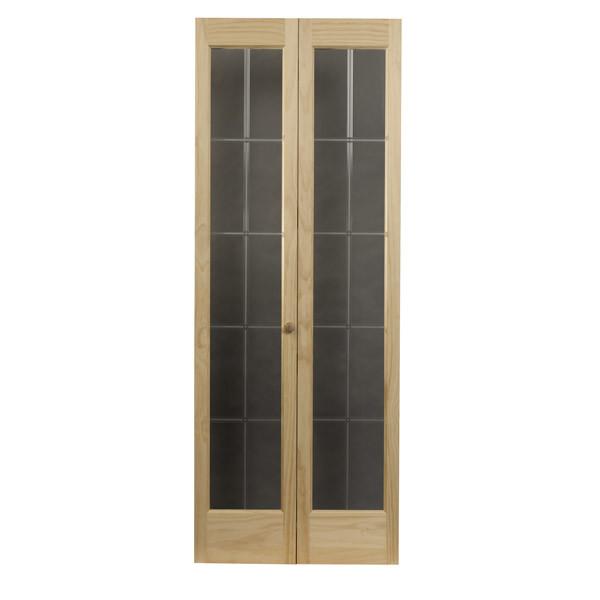 Optique Glass Bifold Door - Natural Detail
